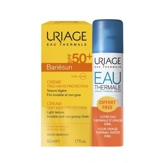 Uriage Kit: Kreem Uriage Bariesun SPF50+ 50ml + Uriage termaalne vesi, 50ml