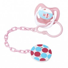 Pacifier Tether/Clip - All Plastic - Pink (6) & Blue (6)