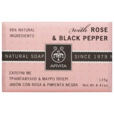 APIVITA Natural Soap with Rose & Black Pepper, 125g