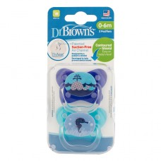 PreVent BUTTERFLY SHIELD Pacifier, Stage 1 * 0-6M - Assorted, 2-Pack