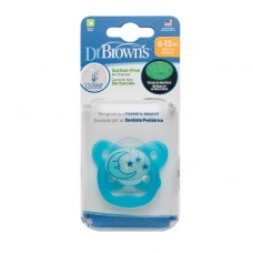PreVent Glow in the Dark BUTTERFLY SHIELD Pacifier - Stage 2 * 6-12M - Blue, 1-Pack