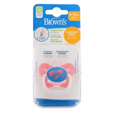 PreVent BUTTERFLY SHIELD Pacifier, Stage 2 * 6-12M - Pink, 1-Pack
