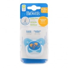 PreVent BUTTERFLY SHIELD Pacifier, Stage 2 * 6-12M - Blue, 1-Pack