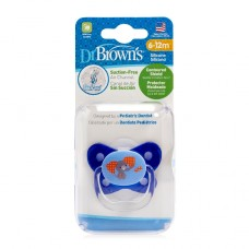 PreVent BUTTERFLY SHIELD Pacifier - Stage 2 * 6-12M - Blue, 1-Pack