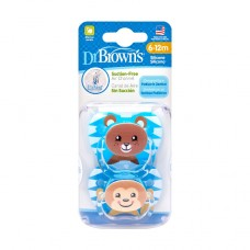 DR.BROWN'S lutid PreVent BEAR&MONKEY, 6-12 kuud., 2 tk.