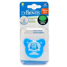 PreVent Glow in the Dark BUTTERFLY SHIELD Pacifier - Stage 3 * 12M+ - Blue, 1-Pack