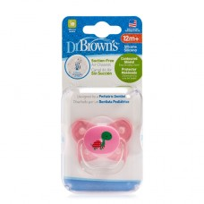 PreVent BUTTERFLY SHIELD Pacifier - Stage 3 * 12+M - Pink, 1-Pack