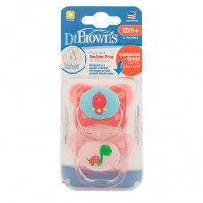 DR.BROWN'S lutid PreVent BUTTERFLY, roosa 12 kuust, 2 tk.